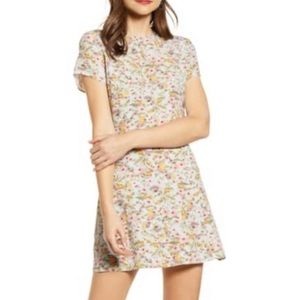 Something Navy short sleeve floral dress